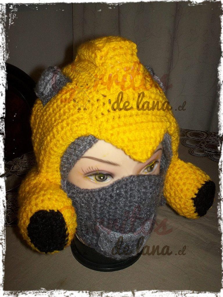 Gorro Lana Bumblebee - Transformers - Gorritos de Lana - Duwen 2d1cc99765d