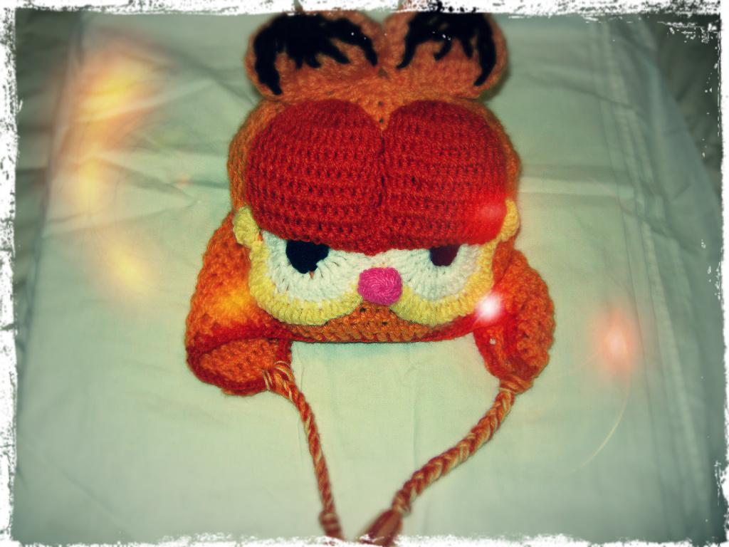 Gorro de lana Garfield - Gorritos de Lana - Duwen 84581a1b3c2e