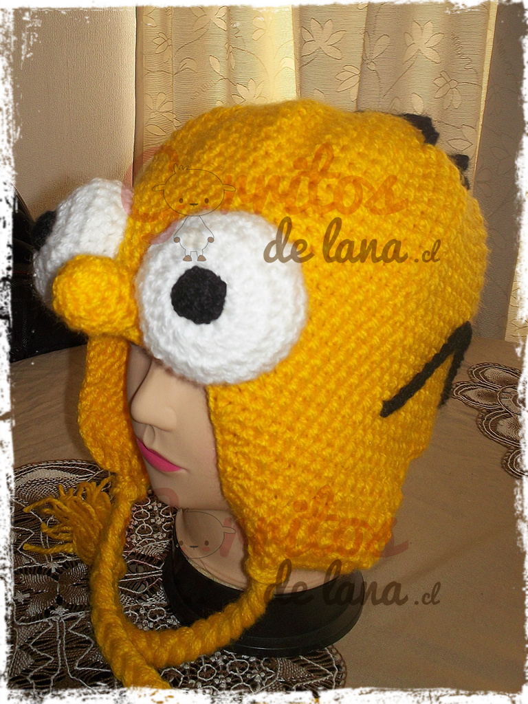 Gorro de Lana Homero Simpson - Gorritos de Lana - Duwen 7df8757aad5