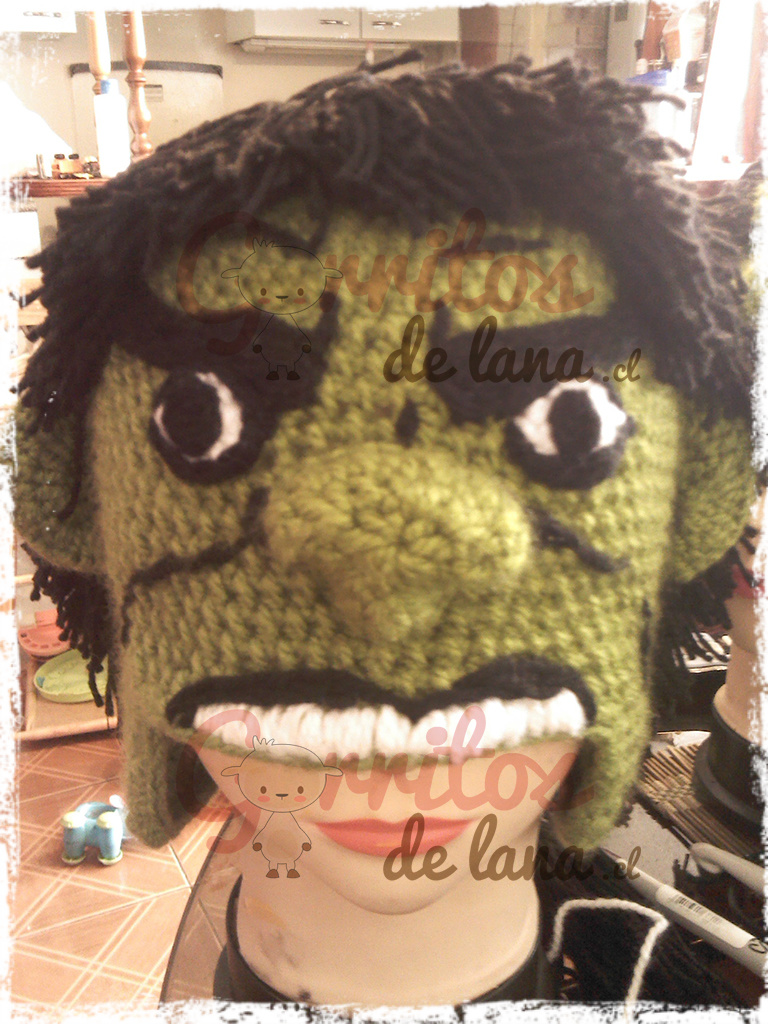 Gorro Lana Hulk - Gorritos de Lana - Duwen 8990c7eadc5